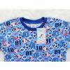 Dětské letní pyžamo fotbal detail krku