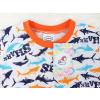 Dětské pyžamo žraloci sharks detail krku 2
