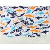 Dětské pyžamo žraloci sharks prodloužený zadní díl v mart