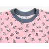 Dětské tričko králíčci na růžové detail krku