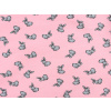 Dětské tričko králíčci na růžové detail látky