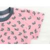 Dětské tričko králíčci na růžové detail rukávu