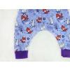 Dětské turky lišky a králíčci na fialové detail nohavice