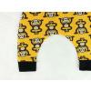 Dětské turky opičky na žluté detail nohavice