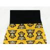 Dětské turky opičky na žluté detail pasu