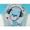 Dětská mikina modrý medvídek deatil panelu