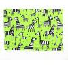 Dětské tričko zebry na zelené detail pasu