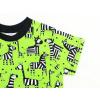 Dětské tričko zebry na zelené detail rukávu