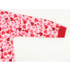 Dětské dívčí pyžamo srdíčka na bílé detail rukávu
