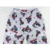 Dětské pyžamo motorky na šedé detail pasu