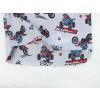 Dětské pyžamo motorky na šedé prodloužený zadní díl