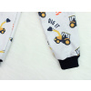 Dětské softshellové kalhoty bagry detail nohavice