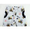 Dětské softshellové kalhoty bagry detail pasu