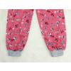 Dětské pyžamo pejsci na starorůžové detail nohavice