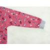 Dětské pyžamo pejsci na starorůžové detail rukávu
