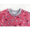 Dětské pyžamo pejsci na starorůžové detail krku