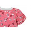Dětská noční košilka pejsci na starorůžové detail krku