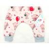 Dětské baggy Růžové kočičky detail nohavic