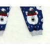 Dětské pyžamo medvídci na modré detail zadního nohavic