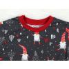Dětské vánoční pyžamo detail krku