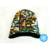 Dětská zimní čepice s nákrčníkem detail čepice