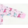 Dětské pyžamo barevní jednorožci detail zadního dílu