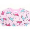 Dětské pyžamo barevní jednorožci detail zadního dílu2