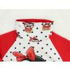 Dětská červená tepláková souprava se sovičkou detail límce1