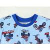 Dětské pyžamo pro kluky motorky na modré detail krku