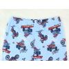Dětské pyžamo pro kluky motorky na modré detail pasu