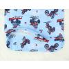 Dětské pyžamo pro kluky motorky na modré detail prodlouženého zadního dílu
