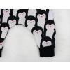 Dětské turecké kalhoty tučňáci detail nohavice