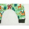 Turky zelený les se zvířátky detail nohavice