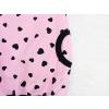 Dětské růžové mikinošaty se srdíčky kapsa