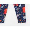 Dětské legíny zvířátka a ornamenty detail nohavice