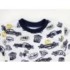 Dětské pyžamo závodní auta detail krku