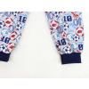 Dětské pyžamo kopačky a míče šedé detail nohavic