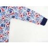 Dětské pyžamo kopačky a míče šedé detail rukávu