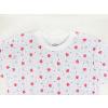 Bílá dětská noční košile berušky detail krku