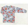 Dětské tričko s dlouhým rukávem lišky a králíčci detail2