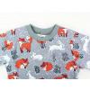 Dětské tričko s dlouhým rukávem lišky a králíčci detail krku