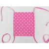 Rúžová rouška s puntíky a růžovými šňůrkami2