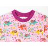 Dětské růžové triko se slony detail krku