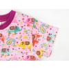 Dětské růžové triko se slony detail rukávu