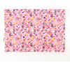 Dětské růžové triko s kytičkami detail1