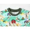Dětské zelené triko farmáři detail krku