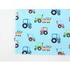 Dětské modré triko traktory detail2