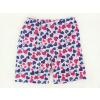 Dětské pyžamo s krátkým rukávem Modrorůžová srdíčka detail kraťasů