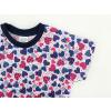 Dětské pyžamo s krátkým rukávem Modrorůžová srdíčka detail rukávu