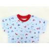 Dětské pyžamo s krátkým rukávem Pod hladinou detail krku